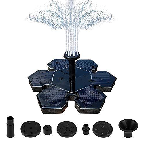 SKLLA fontein op zonne-energie, sneeuwvlokvorm, 1,5 W, vrijstaande waterpompen op zonne-energie