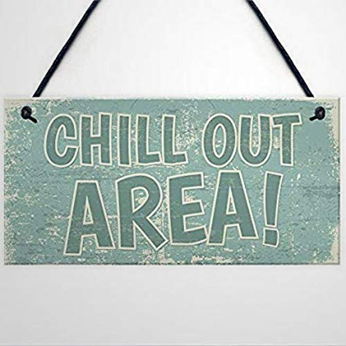 BYRON HOYLE Chill Out Area Hot Tub Man Cave Shed Summer House Garden Funny Wooden sign Wood Plaque Wall Art wall hanger Home Decor