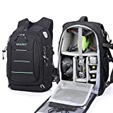 SEASKY Warrior Backpack for DJI FPV Combo Racing Drone Mavic 2 pro Air2 Air2S Quadcopter Shoulder Bag Outdoor Portable Professional DSLR SLR Photography Bags with Waterproof Rain Cover (Green)