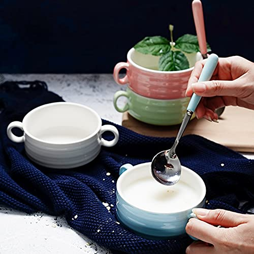 Keramik Binaural Japanische Backschalen-Set, Soufflé-Backschale Puddingschale, ein Set von vier, Mikrowellenherd A set -#4