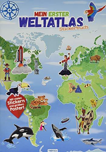 Trötsch Stickerbuch Mein erster Weltatlas: Stickerbuch Beschäftigungbuch Lernbuch