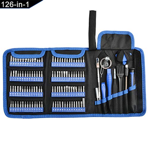 Precision Screwdriver Set, 126-in-1 Magnetic Screwdriver Kit, Multi Bits Screw Driver Professional Repair Tool Kit for Phone, Laptop, PC, Watch, Electronics
