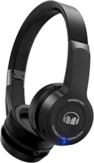 Monster Clarity HD On-Ear Bluetooth Headphones, Black- Voice Control Ready with Melody Music Assistant, Stream from Spotify, iHeartRadio
