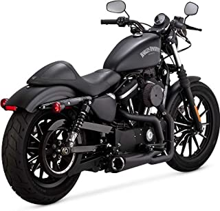 Vance & Hines 14-19 Harley XL883N Competition Series 2-Into-1 Exhaust (Black)