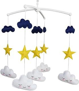 bébé Jouet mobile musical fait main de lit bébé Cadeau de Noël Étoiles et nuages