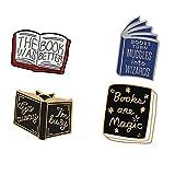 Hedgehog Buch Pin Emaille Pin Cartoon-Serie Abzeichen Literatur-Liebhaber-Geschenk-5Pcs
