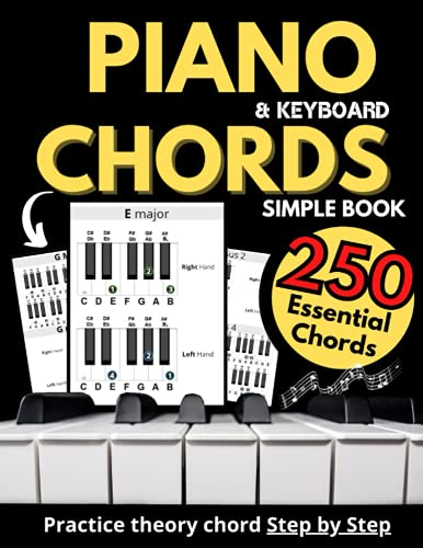 Piano & Keyboard Simple Chords Book, Theory Chord Step by Step,: Practice...