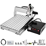 VEVOR CNC Router 6040 3 Axis CNC Router Machine 600x400mm CNC Router Kit 1000W MACH3 Control Large 3D Engraving Machine CNC Router Kit with USB(6040 3 Axis with USB)