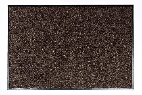 ASTRA hochwertige Schmutzfangmatte – waschbare Fußabstreifer – robuster – langlebige Fußabtreter – für den Indoorbereich – braun –60 x 90 cm