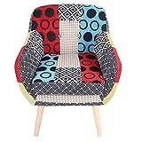 Armchair,Recliner Tub Chair <span class='highlight'>Single</span> <span class='highlight'>Lazy</span> <span class='highlight'>Sofa</span> Accent Chair Lounge Reception Chair Seat Relaxing Fabric <span class='highlight'>Sofa</span> Chair Comfy Seat with Solid Wood Legs for Living Room <span class='highlight'>Bedroom</span> Bathroom Office,62×53×59cm