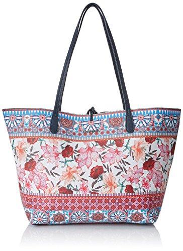 Desigual Bols_aria Capri, Shoppers y bolsos de hombro para Mujer, Turquesa (Turquesa Technic), 28x13x30 cm (B x H x T)