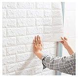 Papel pintado autoadhesivo para revestimiento de paredes 3D, adhesivo de pared, papel pintado de imitación de piedra, se puede cortar a medida, decoración de pared con efecto 3D, 70 × 77 (Size:10pcs)