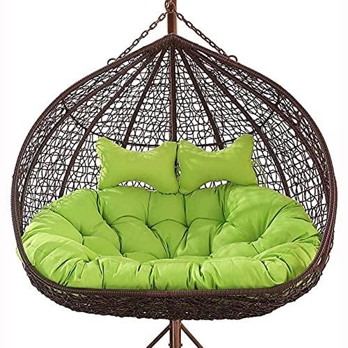 Pteng Outdoor Eierstuhl Eiernest geformte Kissen, hängendes Stuhlkissen, verdicken Doppel Papasan abnehmbare 2 Personen Sitz Wicker Rattan Schaukelkissen für Patio Garten