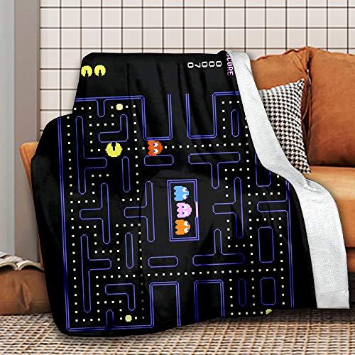 Korlav Arcade Video Game Throw Blanket, Flannel Blanket Bedding