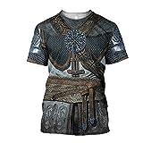 YOROOW Camiseta Tatuaje Símbolo Vikingo para Hombre, Mitología Nórdica Impresa 3D...