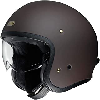 Shoei J O Vintage Open Face Helmet Matte Brown/Large (More Size and Color Options)