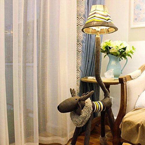 Good thing Lampadaire Animal lampadaire en peluche cerf lampadaire salon chambre à coucher enfants lampe de table chambre d'enfant lampadaire