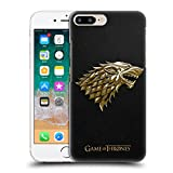 Official HBO Game of Thrones Gold Stark Embossed Sigils Hard Back Case Compatible for iPhone 7 Plus/iPhone 8 Plus