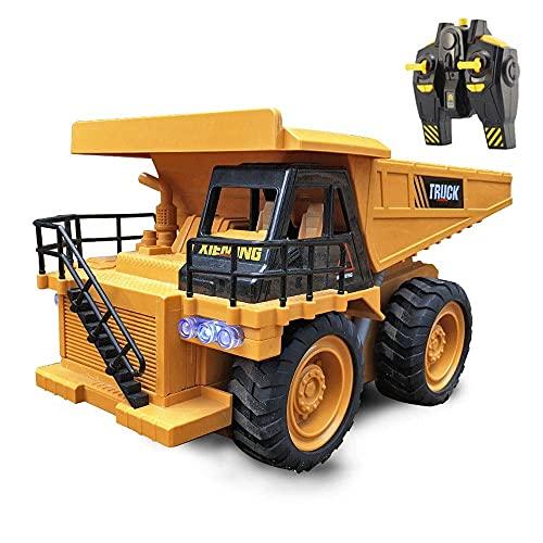 UJIKHSD Camión Volquete De Control Remoto 2.4G Camión Volquete RC Inalámbrico Modelo De Vehículo De Ingeniería RC Vehículo De Construcción Camión Eléctrico RC Niño Coche De Juguete Regalos