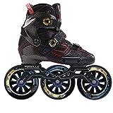 ME-Rollerns Patines de Velocidad en línea de Fibra con Ruedas Patines Profesionales para niños y Adultos RS 110 Black Skates 36