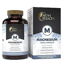 Magnesium Komplex - 240 Kapseln - 375 mg elementares Magnesium je Tagesdosis - Magnesiumbisglycinat, Magnesiumcitrat, Magnesiummalat - Vegan - Hochdosiert - Laborgeprüft