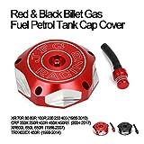 AnXin - Tappo serbatoio carburante per moto Honda CRF250R 2004-2017 CRF250X 2004-2017 CRF450R 2002-2016 CRF450RX 2017-2018 XR80 88-89 XR250 86-04 XR650R 04-07 XR650L 86-03 TRX450R 04-09 rosso