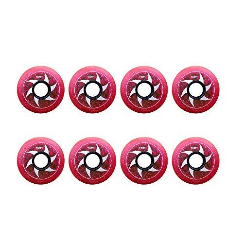 MY1MEY Single Wheel Sneaker Schuhe Inline Skate Wheels, 85A Anfänger Kids Skate Ersatzrad 64Mm 68Mm 70Mm Hockey Inline Rollschuhe und Gepäckkoffer, Rot, 70mm(red64mm)