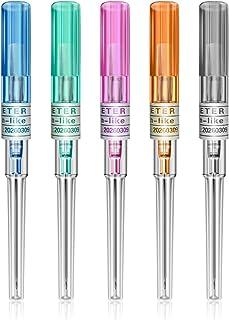 Ear Nose Piercing Naalden - Rayyl 50PCS Piercing Naalden 14g 16g 18g 20g 22g Mix Maat IV Katheter Naalden voor Piercing Be...