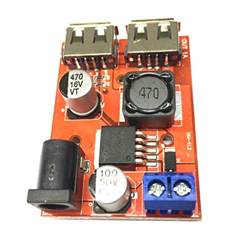 Durable Cargador Solar DC-DC 9V / 12V / 24V / 36V a 5V Dual USB Buck Module 3A