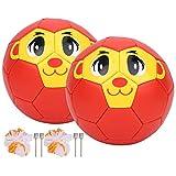 Jeankak Balón de fútbol, Lindo Mini balón de Entrenamiento Pequeños balones de fútbol Juegos de Pelota para niños pequeños Juguete de Regalo Mini balón de fútbol para niños pequeños Jugar en i