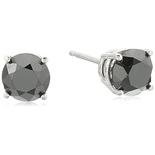 35033813a 1/2 cttw to 2 cttw Black Diamond Stud Earrings in 14K Gold