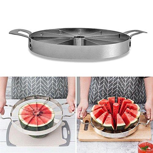 raspbery Fruta Melón Cantalupo Slicer Sandía Divisor Herramientas de Cocina Pesado Cortador de Acero Inoxidable para Cortar la Forma de Bola Fruta y verdura Adecuado