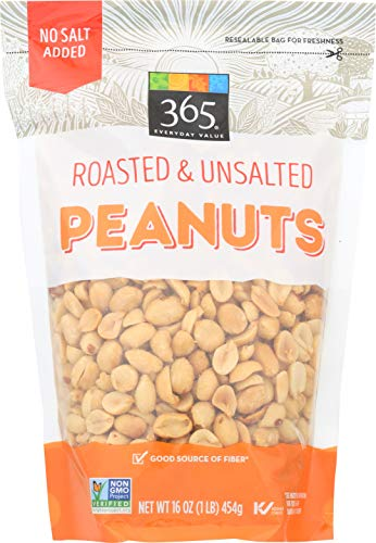 365 Everyday Value, Peanuts, Roasted & Unsalted, 16 oz