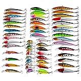 MKNZOME 56 Uds señuelos de Pesca Conjuntos de señuelos de lubina señuelos de Pesca de Lucio Pesca en el mar Zeck Aparejos de Pesca señuelo de cucarachas