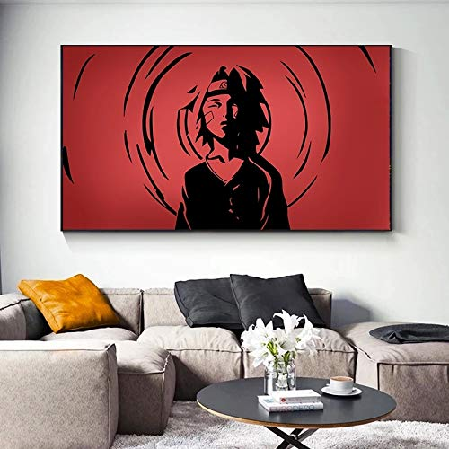 UIOLK Modern anime Naruto character profile picture canvas abstract prints and posters wall living room home decoration