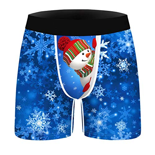 Hombre Calzoncillos Bóxer de Navidad Estampado 3D Bóxers Ropa Interior Divertido Calzoncillos Transpirables Xmas...
