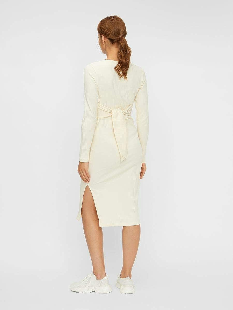 L/ässiges Kleid MAMALICIOUS Damen Mljaini L//S Jersey Midi Dress A