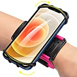 newppon Phone Holder for Running Wristband : 360 Rotatable for iPhone 12 Pro Mini SE 2021 11 11 Pro Xs XR X 8 7 Plus, Fits All 4-6.7 Inch Smartphones, Samsung Galaxy fit Running Workout Hiking Sport