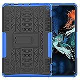 BRAND SET Fundas para Amazon Fire HD 10 2021 Cárcasa Silicona Suave TPU + PC Armadura Híbrida Antigolpes Protector Case Cover Bumper Cubierta Protectora, Carcasa para Amazon Fire HD 10 2021-Azul