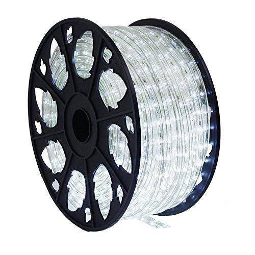 50m 1200 LED Lichterschlauch Lichtschlauch weiß – Innen- und Außenbereich – energiesparende Leucht-Dekoration für Garten Fest Weihnachten Hochzeit
