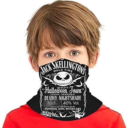 XJ-JX Ja-Ck Skellington Daniel's - Pañuelo de seda con 6 filtros para adolescentes, variedad de toallas para la cara, pasamontañas, pañuelo para la cabeza