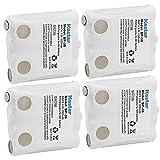 Kastar Battery (4 Pack), Ni-MH 4.8V 1000mAh, for Uniden BP-38 BP-39 BT-1013 BT-537 BP-40 FRS-008, Two-Way Radios GMR1838, GMR648-2CK, GMR1048-2CK, GMR1038, GMR3699, GMR2238, GMR885, GMR638, GMR635,