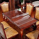 Eureya Wasserdicht Tischschoner, Holz, Schutzhülle mit Küche Esszimmer Holz Möbel Schutzhülle, Clear 2mm Thick, 65x130CM - 5