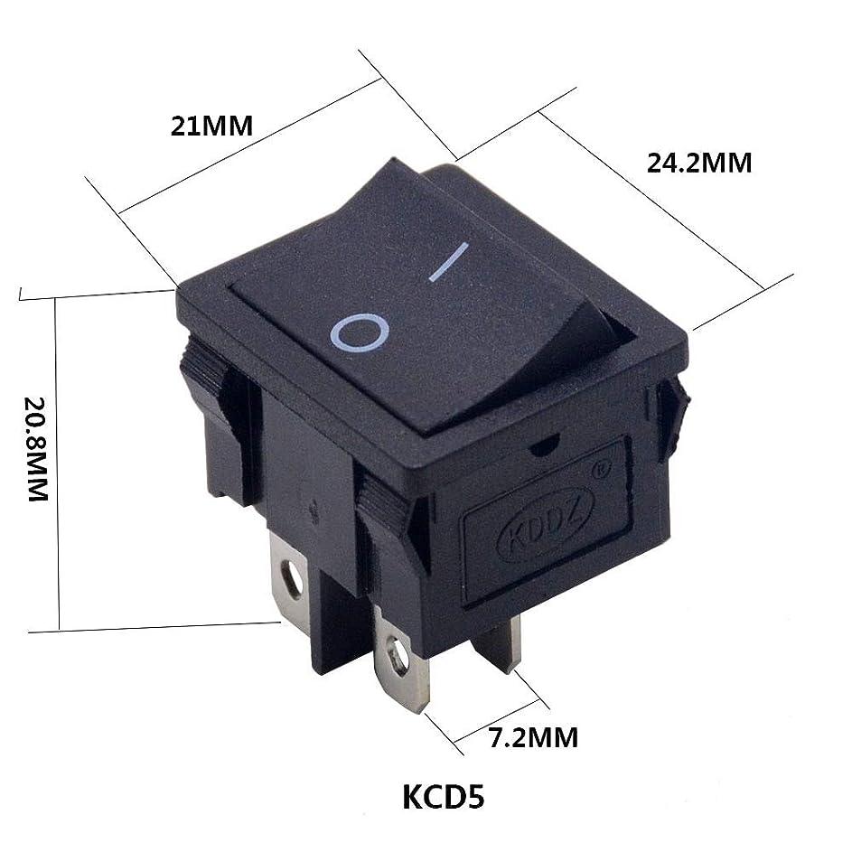 重さはさみインドKYK クリニーク/ロットSPST 2/3/4 / 6PIN ON/OFFラウンド/スクエアボートロッカースイッチの車のダッシュダッシュボードトラックRV ATVホームKCD (色 : KCD5 4P)