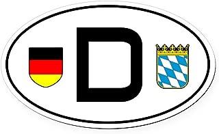 CafePress Germany Car Oval Car Magnetbayern Variant Oval Car Magnet, Euro Oval Magnetic Bumper Sticker
