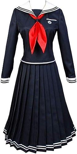 mejor reputación Tianxinxishop mujer mujer mujer Disfraz de Cosplay de Anime Juego Japones Uniforme de Estudiante de Secundaria Touko Fukawa Cosplay Costume Conjunto Completo  mas barato