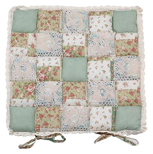 Seat Pads Chair Pads Booster Cushion Cotton Cushion Bench Cushion Chair Cushion Square Lace Trim Rural Style Floral Fabric Floral With Ties,for Dining Chair Garden Office School,Car Seat Mat4 Pieces G