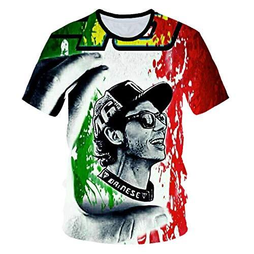 Camisetas Camiseta Manga Corta para Hombre Cuello Redondo Descenso Locomotora Camisetas con Estampado 3D Tops con Refranes Camisas para Hombres Tops-UNA_5XL