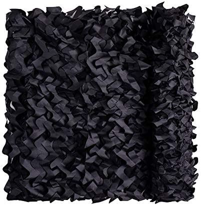 Senmortar Camo Netting Camouflage Net 5 X 6 56 FT Black Military Nets Lightweight Durable Without product image