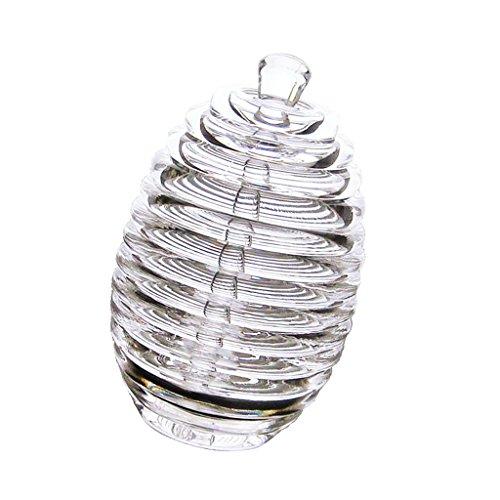 Transparentes Honigglas Küchen-Honig-Behälter transparenter Honigtopf Küchenhonigbehälter